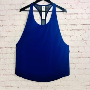 Fabletics Tank Top Blue With Mesh Down the Back
